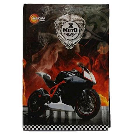 Imagem de Caderno Capa Dura Brochura 1/4 96 Folhas X-moto 473 Maxima