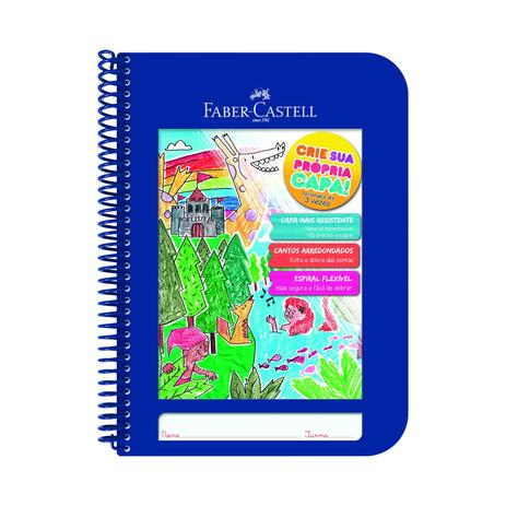Imagem de Caderno criativo capa plástica faber castell azul