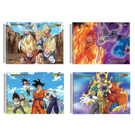 Caderno Desenho Cartog60 Flscdesp Dragon Ball Super Sao Domingos