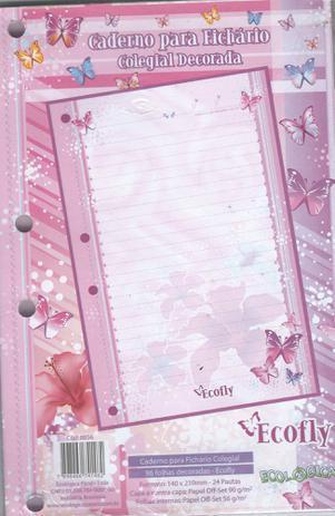 Imagem de Caderno para Fichario Colegial Decorada 96 folhas Ecofly