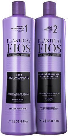 6be4042c8 Cadiveu Plástica dos Fios Duo Kit Selagem Térmica Shampoo Pré-tratamento  Passo 1 (1000ml) e Passo 2 (1000ml)