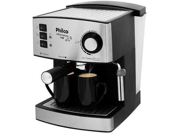 bd5c8b953 Cafeteira Elétrica Philco Coffee Express - Prata e Cinza 2 Xícaras ...
