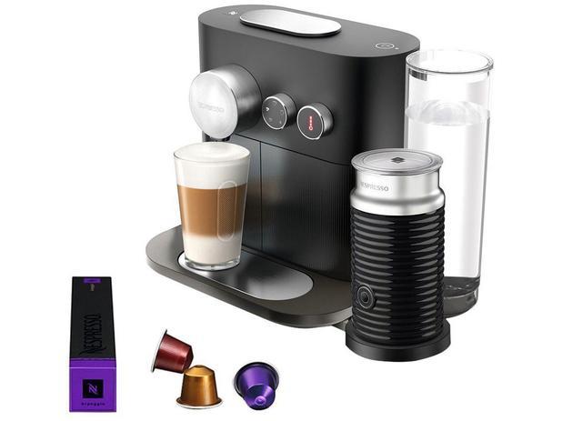Cafeteira Expresso 19 Bar Nespresso Expert - Combo Expert Black Aero3 Preta - 220V