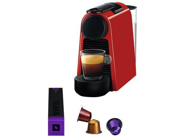57dd3a8a5 Cafeteira Expresso 19Bar Nespresso Essenza Mini - Vermelho com 14 Cápsulas