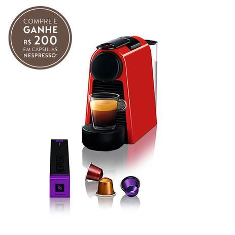 Imagem de Cafeteira Nespresso Essenza Mini vermelha 220v