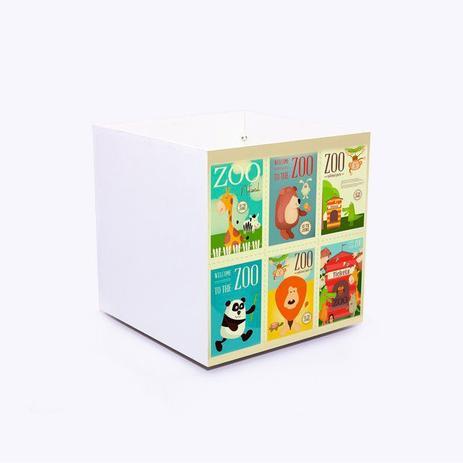Imagem de caixa bau de brinquedos Boo Kids com ilustração Zoo Tickets