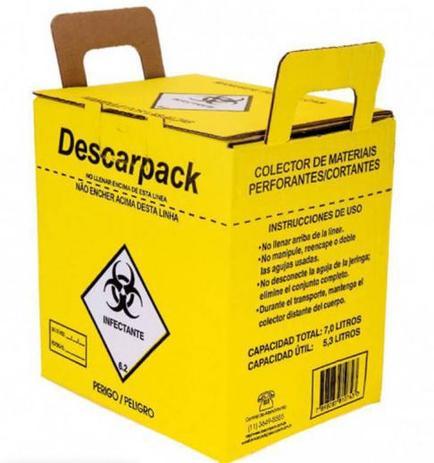 Imagem de Caixa coletora de material perfurante e cortante - 13 litros com 20 und
