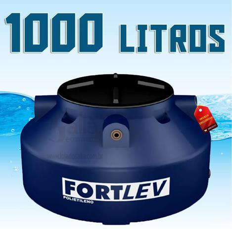 Caixa d gua tanque de polietileno azul 1000 litros com for Estanque para agua de 1000 litros