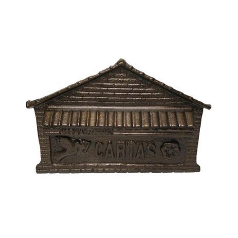 Imagem de Caixa De Correio Bronzeada Para Muro Correspondência Grande