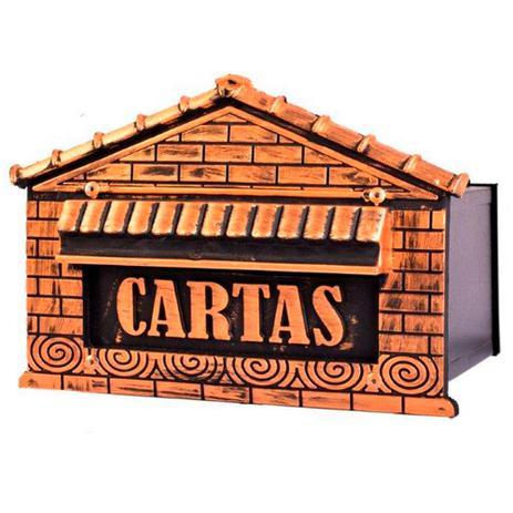 46507b759c6f Caixa de Correio Colonial Casinha para Muro com Porta Cadeado Fercar Nº 6