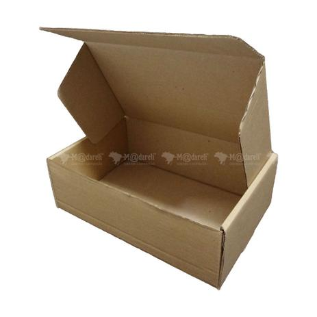 Imagem de Caixa de Papelão Envio Correio Montável Kit com 50 unidades