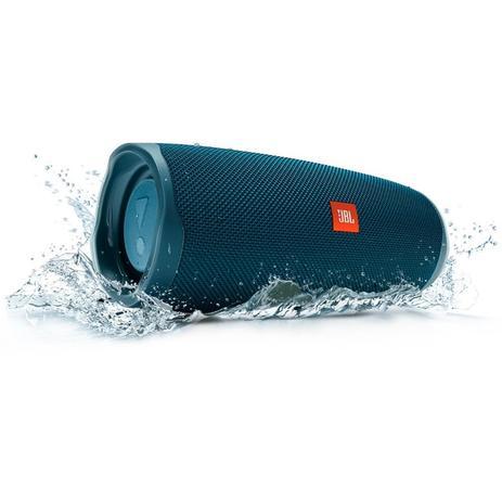 Imagem de Caixa de Som Bluetooth à Prova Dagua JBL Charge 4 Azul 30W