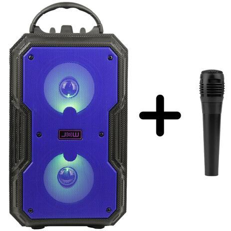 Imagem de Caixa de som bluetooth  com microfone P10 para karaoke
