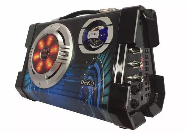Imagem de Caixa De Som Portátil Bluetooth Amplificada 6 Em 1 Com Microfone Deko Sy658