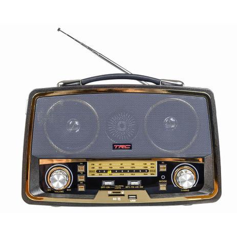 Imagem de Caixa De Som Portatil Retro Bluetooth 35W Trc 211