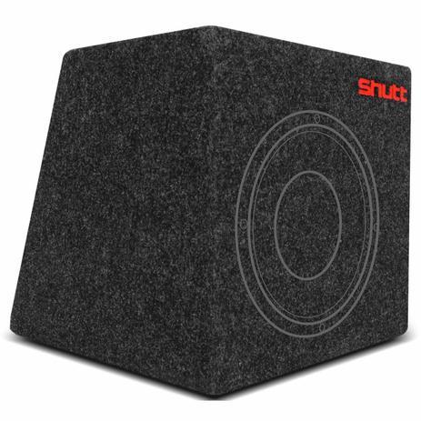 d3970d64eaf Caixa de Som Shutt para 1 Alto Falante 10 Polegadas 30 Litros Selada  Carpete Grafite