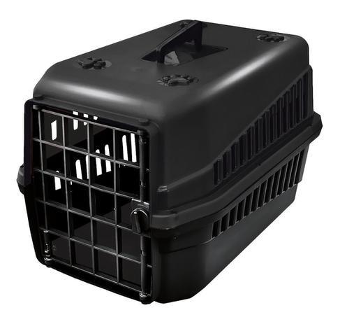 Imagem de Caixa De Transporte Cão E Gato N3 Preta Super Resistente