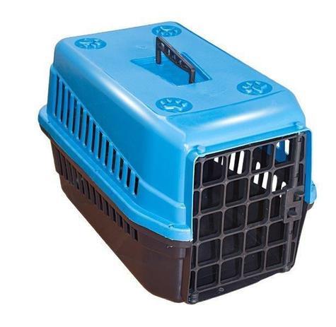 Imagem de Caixa De Transporte N3 Para Cães E Gatos Grande Azul Pet Viagem