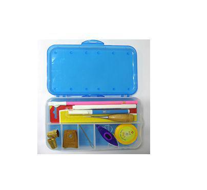 Imagem de Caixa dupla com 10 compartimentos - Ideal para Acessórios, Peças, Artesanatos, Quilt&Patchowork