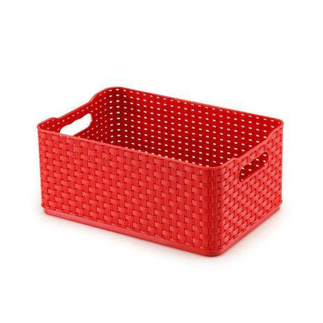 Imagem de Caixa organizadora 4,5L vermelho Rattan 03 Arthi