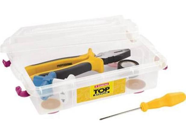 Imagem de Caixa Organizadora Plástico Transparente 2,3 L SanRemo - SAN 104