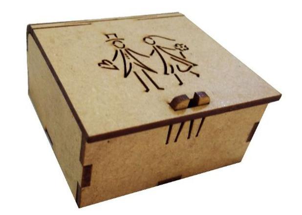Imagem de Caixa para lembrancinha Casamento 7x7x3 cm