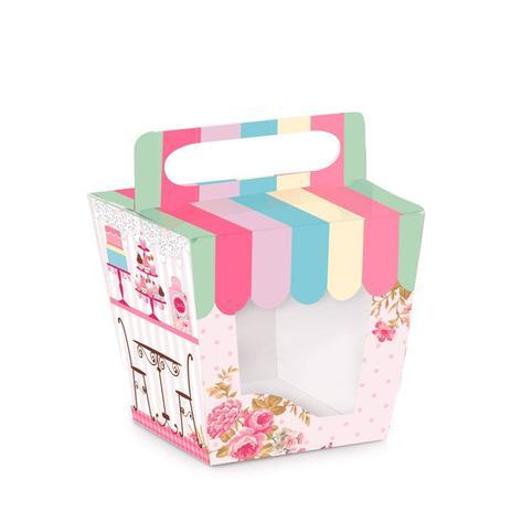 Imagem de Caixa Porta Cupcake Confeitaria Patisseriê 10 unidades Cromus