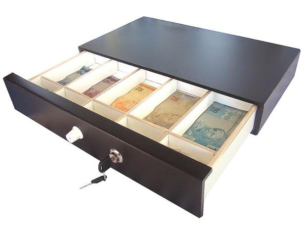 Imagem de Caixa Registradora Gaveta Dinheiro Porta Cédulas Niqueleira