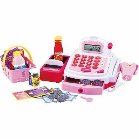 Imagem de Caixa Registradora Infantil Completa com Acessórios Rosa DM Toys