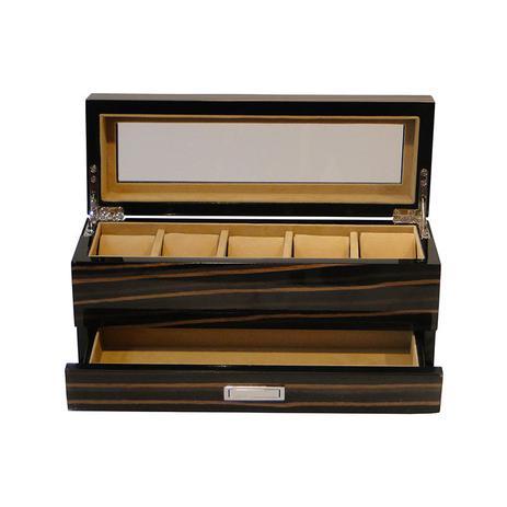 2eb17415987 Caixa Relógio com 5 Divisórias e Gaveta Ebony - Goods br ...