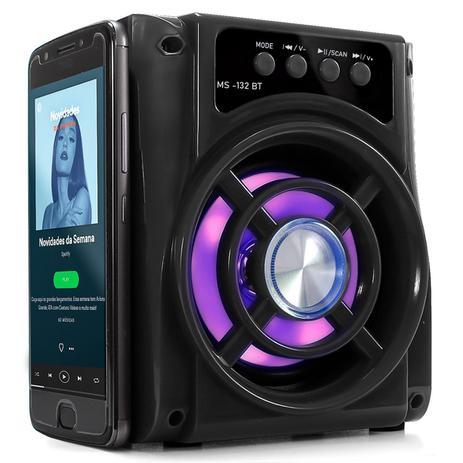 Imagem de Caixa Som Portatil Potente Bluetooth Usb Radio Fm 8w
