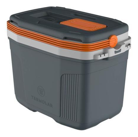 Imagem de Caixa Térmica Cooler 32 Litros Suv Cinza Laranja - Termolar