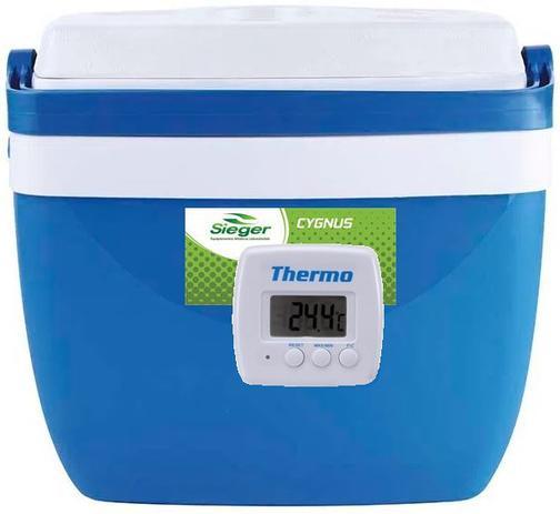 Imagem de Caixa térmica de 32 litros AZUL com termômetro digital máximo e minimo