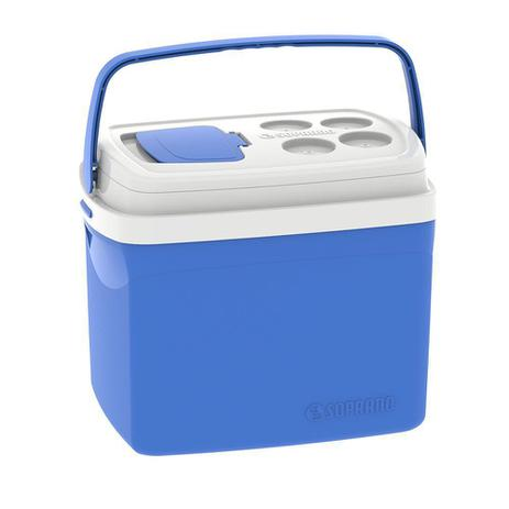 Imagem de Caixa Térmica Tropical 32 Litros com Alça Soprano - Azul