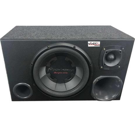 Imagem de Caixa Trio Sub Pioneer Ts-W300 400WRMS 12 Pol + Driver + Tweeter