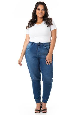 Imagem de Calça Feminina Jeans Jogger Plus Size