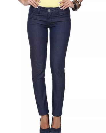 acd189233 Calça Jeans Fem. Skinny Detalhe Strass Bolsos ref.c01m - Nacional ...