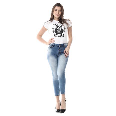 fe660b29a Calça Jeans Feminina com Bojo Cropped - Sawary - Calça Jeans ...