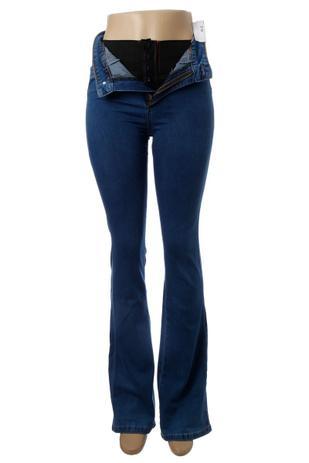 78e28d199f Calça Jeans Feminina Flare Super Lipo Sawary Cintura Alta - Calça ...