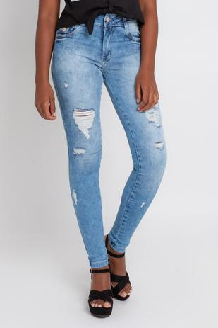aa00ea65a Calça Jeans Feminina Skinny Biotipo Azul - Avenida - Calça Jeans ...