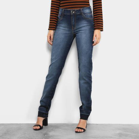 8df559c512 Calça Jeans Skinny Dimy Estonada Barra Desfiada Feminina - Calça ...