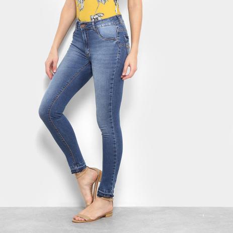 Imagem de Calça Jeans Skinny Ecxo Estonada Cintura Baixa Feminina
