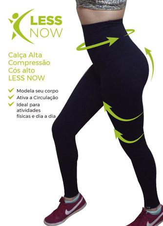 ab1f05a83 Calça Legging Alta Compressão Less Now Cós Alto Power Air St Preta ...