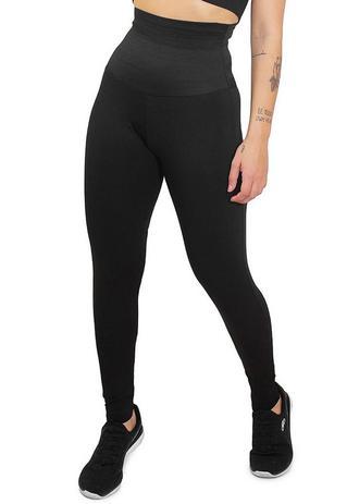 Imagem de Calça Legging Feminina Lisa com Cinta Modeladora Embutida Fit4Life