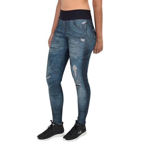 4332490b2 Calça Legging Fusô Jeans Power Riff Urban - Live Azul - Roupas e ...