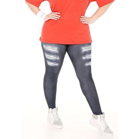 9c221a22a Calça legging jeans plus size trinys - Roupas e Acessórios para ...