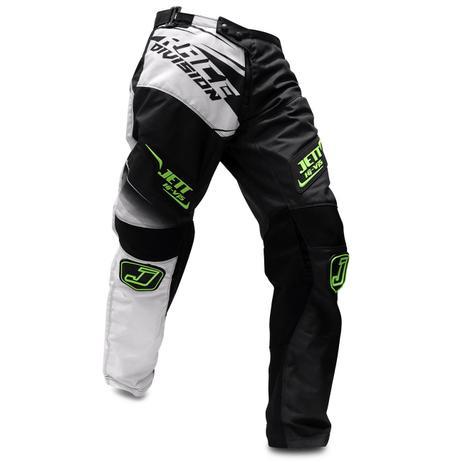 5011de51a Calça Motocross Pro Tork Jett Factory Edition Neon Preto Branco e Verde  Trilha Enduro