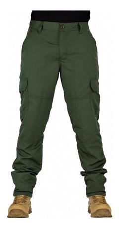 Imagem de Calça Tatica Militar Cargo Masculina Poly 6 Bolsos Reforçada