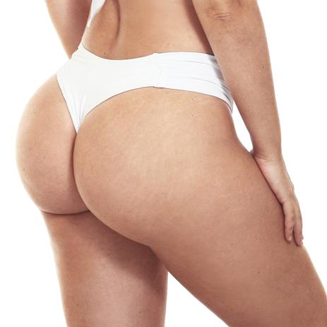 1095042907c19c Calcinha Biquini Plus Size Cintura Alta Fio Duplo Branco - Estigma