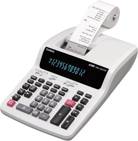 Imagem de Calculadora Casio Printer Dr-210Tm-We 220v 12 Díg com Bobina 4.4 Lps
